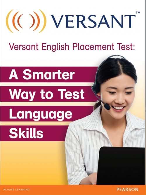 VERSANT ENGLISH PLACEMENT TEST (4 SKILLS)- 1 A 100 LICENÇAS